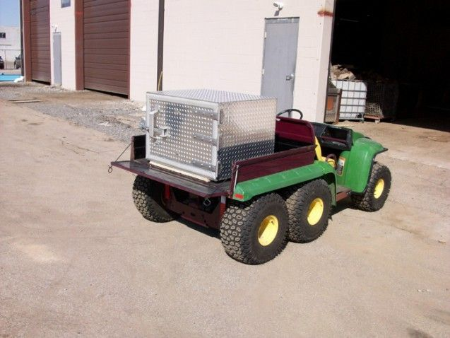 Tractor bed custom storage container by M & M Certified Welding