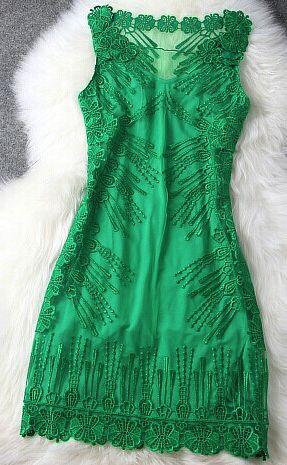 Embroidery Sexy Fashion Dress