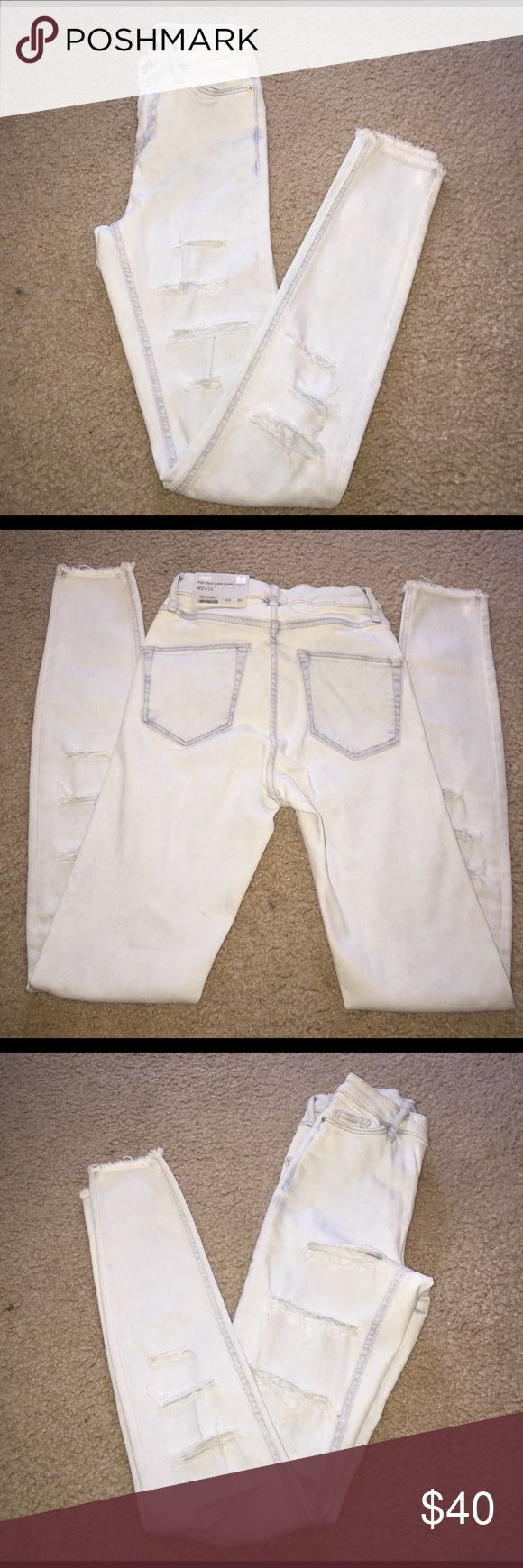 Brand New TopShop Women's High Waisted Jeans Brand new TopShop Jamie high waist ankle grazer jeans W24 L32 Topshop Jeans Ankle & Cropped