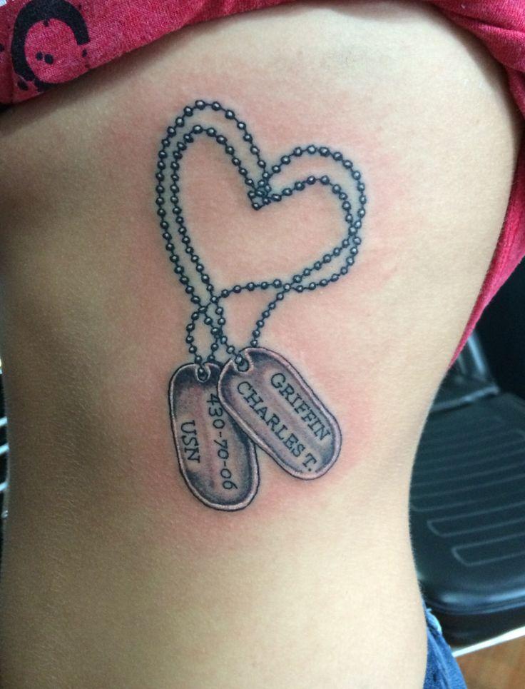 Dog tag tattoo