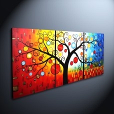 3-panel canvas painting