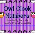 These circular owl clock numbers represent the minutes around the clock. :00-:55 are included to help students understand the number-digital number...