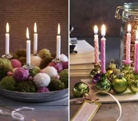 Украшение интерьера при помощи свечей