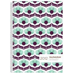 2012 BusyBodyBook Personal & Family Weekly GRID Organizer - Blueberry $17.95