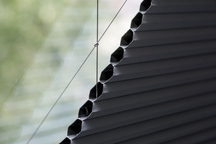 Electric Blackout Duette Pleated Triangular Gable Blinds by Grand Design Blinds