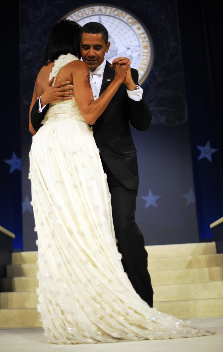 US President Barack Obama (R) and First Lady Michelle Obama (L) dance during their visit to the Western Inaugural Ball on January 20, 2009 at the Washington Convention Center in Washington, DC.       AFP PHOTO/ TIM SLOAN (Photo credit should read TIM SLOAN/AFP/Getty Images) via @AOL_Lifestyle Read more: http://www.aol.com/article/news/2016/11/29/president-obama-tells-rolling-stone-michelle-will-never-run-fo/21616894/?a_dgi=aolshare_pinterest#fullscreen