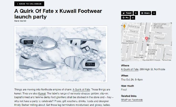 Our lil event with Kuwaii up on Three Thousand! http://thethousands.com.au/melbourne/calendar/a-quirk-of-fate-x-kuwaii-footwear-launch-party