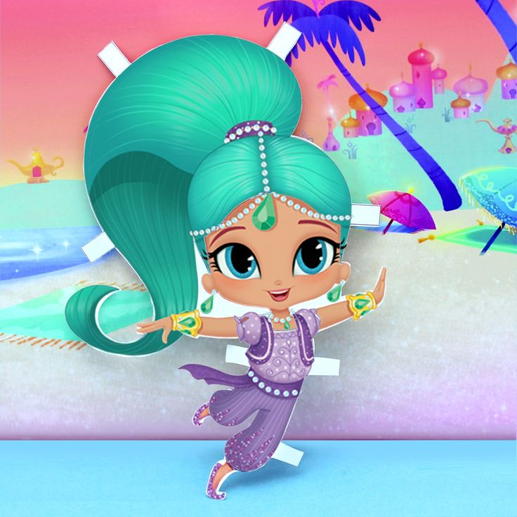 Shimmer and shine paper dolls paper of and summer for Shimmer and shine craft ideas