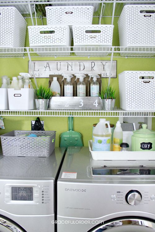 tiny laundry room organization ideas shelves baskets closet rooms