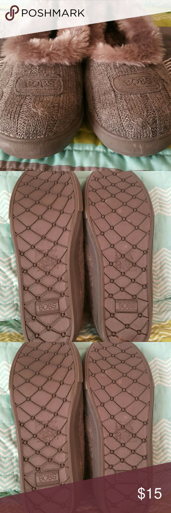 Sketchers Bobs Slippers Super comfortable...Sketchets Bobs Slippers with warm soft lining and memory foam.  Has a non slid sole, so they can be worn outdoors if needed.  Worn once, but a bit too small. sketchers Shoes Slippers