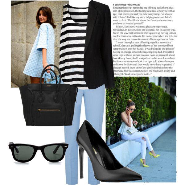 Blue pants & stripes