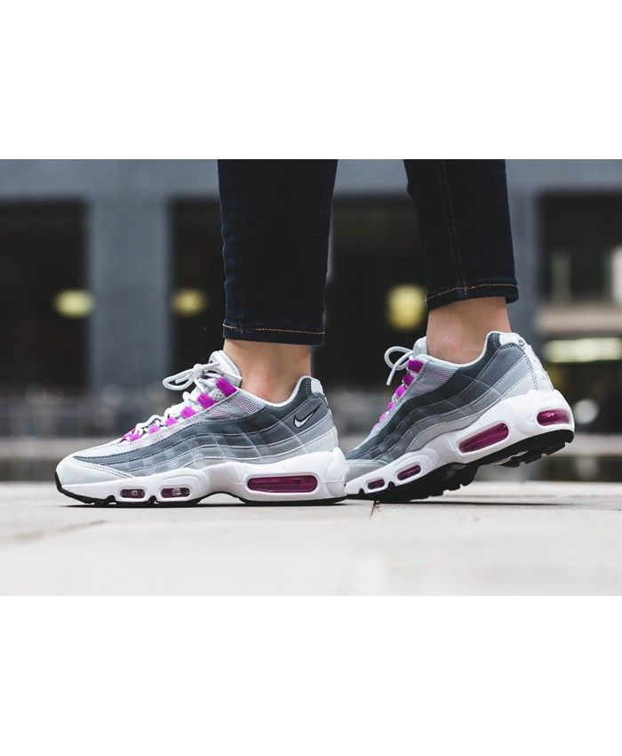 nike air max 95 womens pure platinum/violet