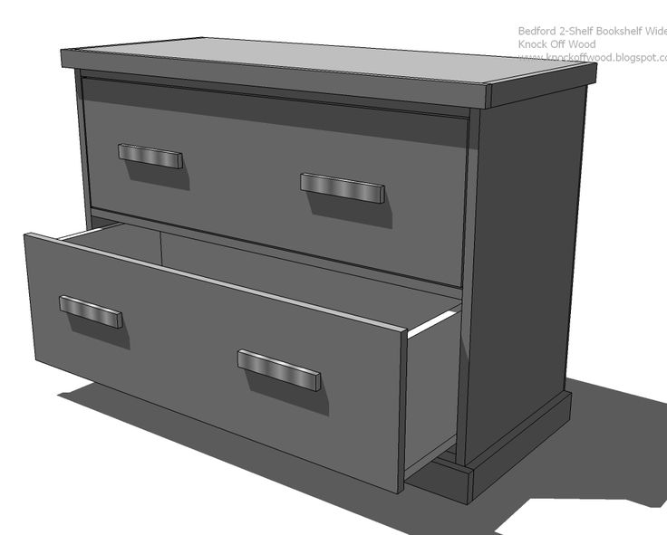 Ana White | Build a Modular Office - Wide Bookshelf/File Base | Free and Easy DIY Project and Furniture Plans