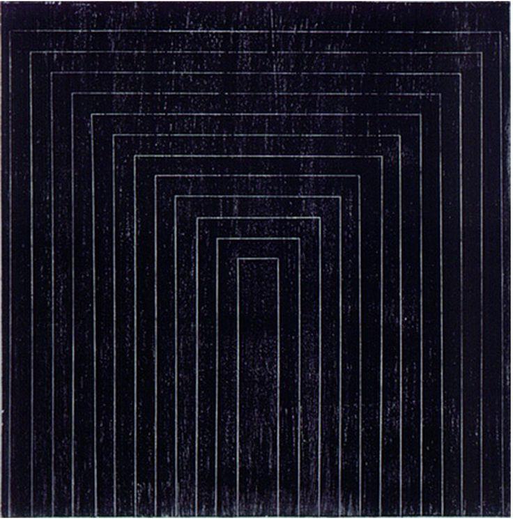 Frank stella black aluminum copper paintings