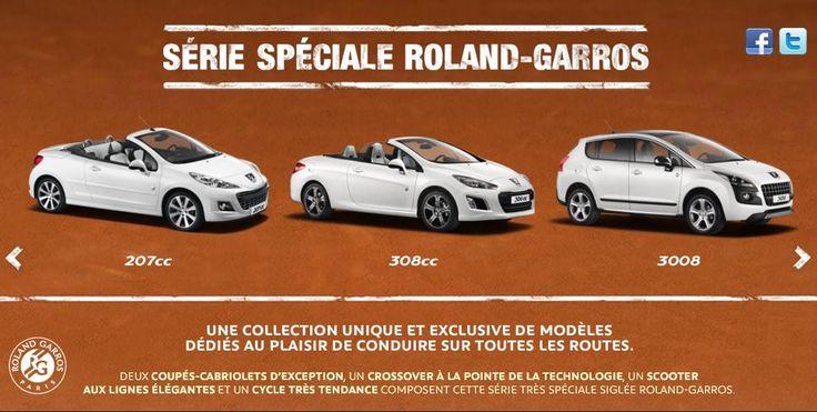 Les séries spéciales Peugeot Roland Garros 2013