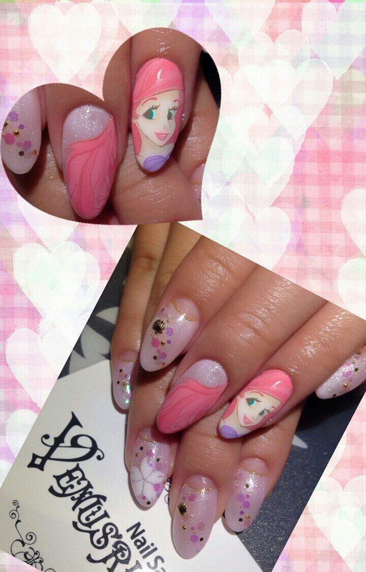 リトル・マーメイド:アリエル(The Little Mermaid) : Character nail art