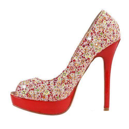 Zapatos rojos formales Tia Maria para mujer 8CjtggAJp