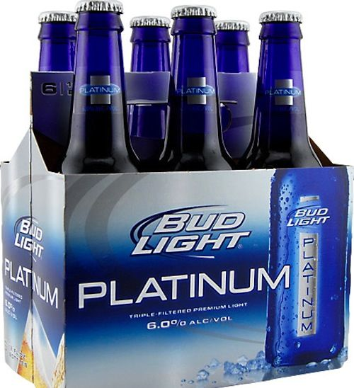 I'm going to buy a six pack of Bud Platinum because the bottles are so pretty colbalt blue...Me Too, also going to drink it :)