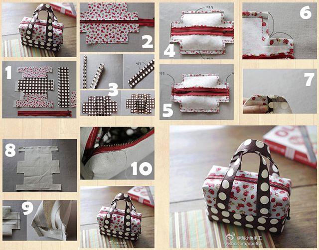 DIY Mini Fabric Tote