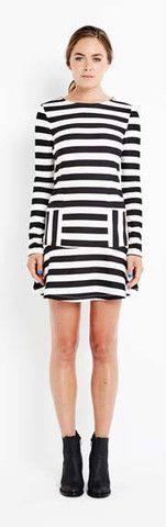 Electric Stripe Frill Dress – Smoke & Mirrors Boutique