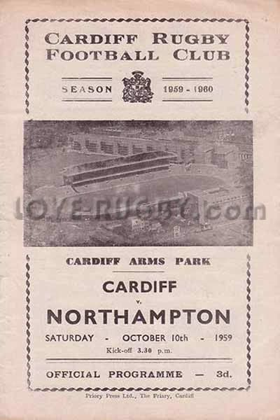 #rugbytoday 10/10 in 1959 : Cardiff v Northampton -Wales v Englandrugby club programme http://www.ticketsrugby.com/rugby-tickets/games/England-Wales-rugby-tickets.php