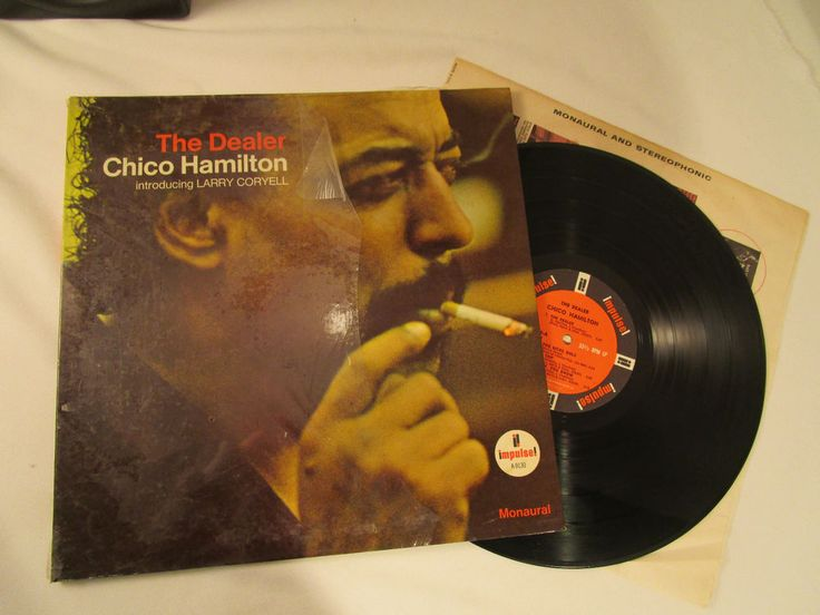 Record The Dealer Chico Hamilton introducing Larry Coryell Monaural A-9130 vintg