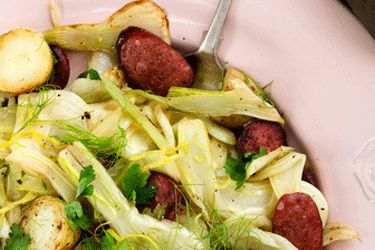 Fried chorizo, fennel and potato – Recipes – Bite