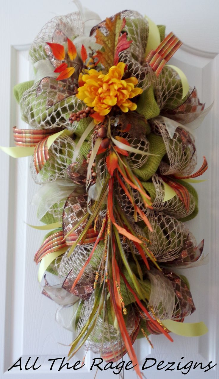 53 best Teardrop swags images on Pinterest | Fall wreaths ...