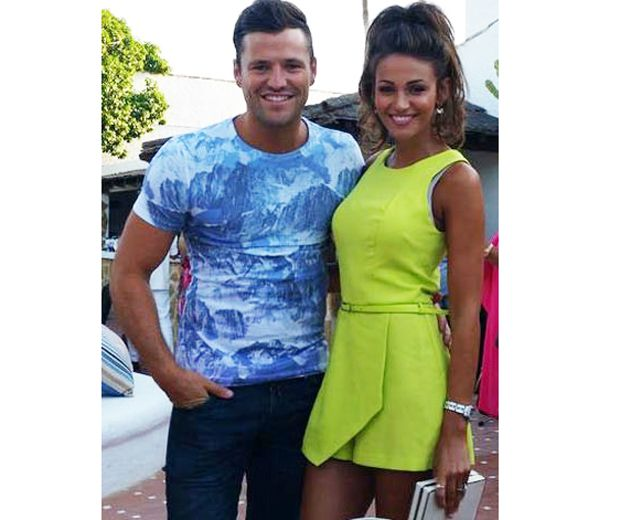 Michelle Keegan's neon Miss Selfridge playsuit: Shop now... http://lookm.ag/GmOpVZ