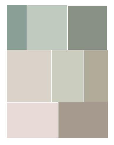 Nuancier vert de gris pour chambre