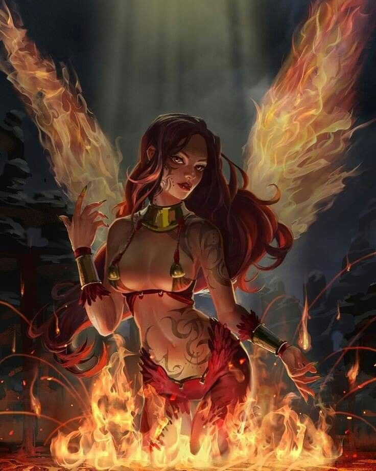 Fire By Jsonn Darkness In Fantasy Art Women Thefappening Wiki 1