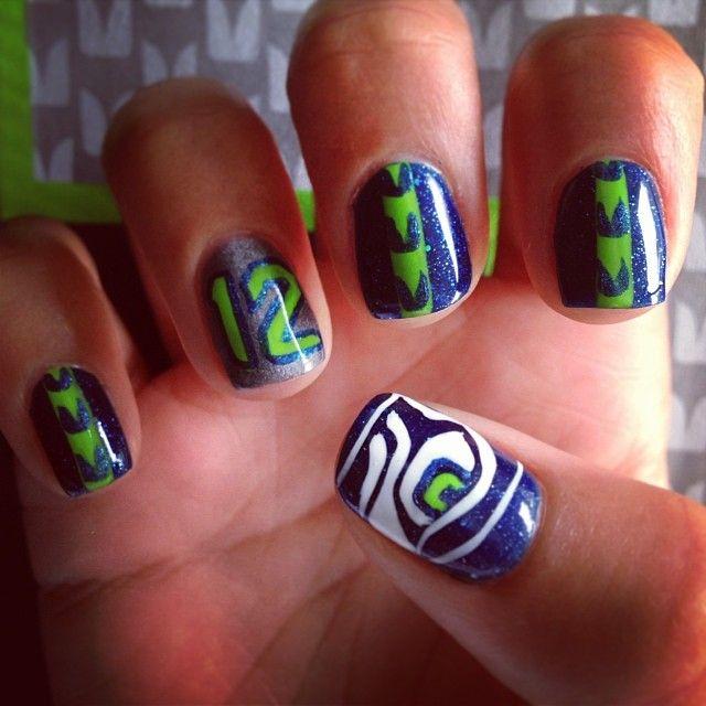 Seattle Seahawk nails