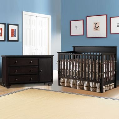 Graco Cribs 2 Piece Nursery Set Lauren Convertible Crib And Portland Combo Dresser Changer In Espresso Click To Enlarge Future Baby Pinterest