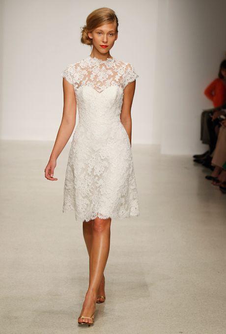 Brides.com: Lace Wedding Dresses from Spring 2013. Lace Wedding Dress: Amsale. Chloe, $2,500, Amsale  See more Amsale wedding dresses