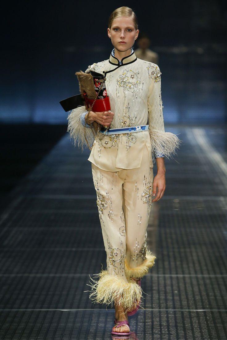 Vogue Runway's Nicole Phelps picks the 8 definitive collections of Milan Fashion Week: Prada.