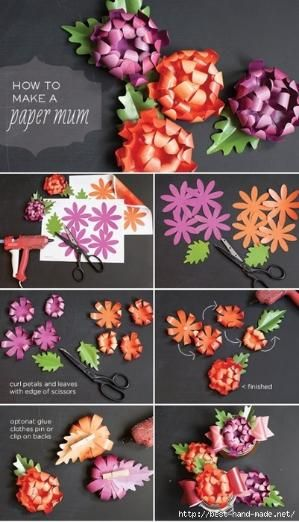 Flores de Papel. Tutorial by Maria Jose 64
