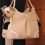 Madison Mia Michele Mocha Faux Pebble Carry Bag Carrier