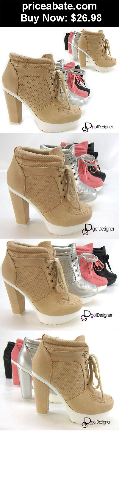 Women-Shoes: NEW Womens Fashion Shoes Ankle Boots High Heels Platforms Pumps Sexy Lace Up - BUY IT NOW ONLY $26.98