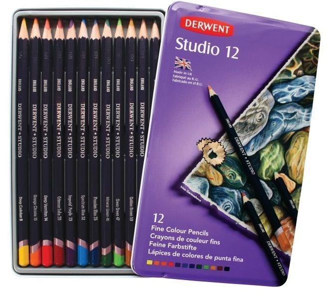 Derwent Studio Pencil Tin 12 Asst, $29.95 (http://www.artshedonline.com.au/derwent-studio-pencil-tin-12-asst/)