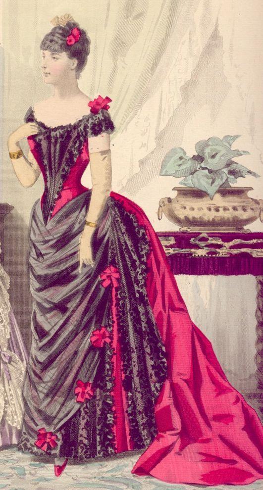 Red & Black ballgown
