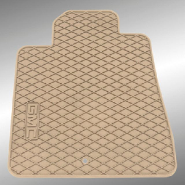 Front All Weather Floor Mats In Dune With Diamond Pattern And Gmc