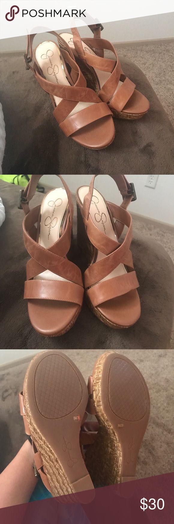 Jessica Simpson Wedges Camel Jessica Simpson Wedges Size 8 Jessica Simpson Shoes Wedges