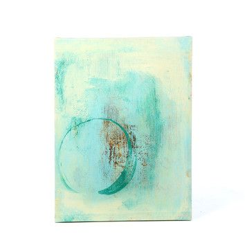 Art Wall Elena Ray 'Teal Enso' Gallery-Wrapped Canvas Wall Art- For more amazing finds and inspiration visit us at http://www.brides-book.com