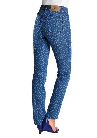 Rovné džíny s potiskem květů #ModinoCZ #jeans #blue #trendy #style #fashion #moda #bein #moda #denim #dziny #flower #printed #flowers #potisk #kvetiny