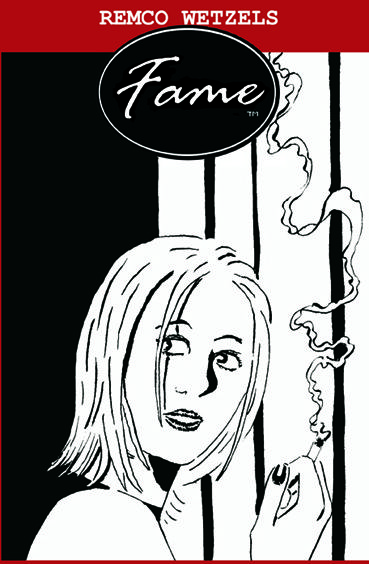Cover for my as-yet-unpublished graphic novel 'Fame'