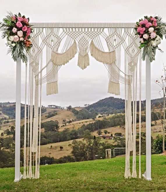 Large macrame Backdrop/ Wedding curtain/Macrame Wedding.