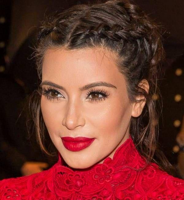 Kim Kardashian African Braid In Double And Bun Hairstyles Romantic