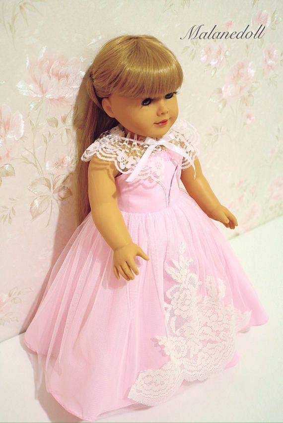 Princess dress pink fits American Girl Doll 18