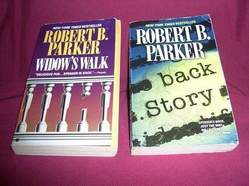 Lot of 2 SPENSER Mysteries by Robert B. Parker: WIDOW'S WALK / BACK STORY