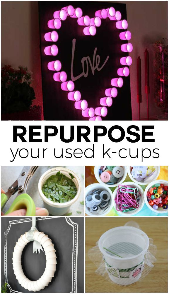 Recycle K Cups in unique and creative ways!